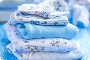 washed and folded baby clothes