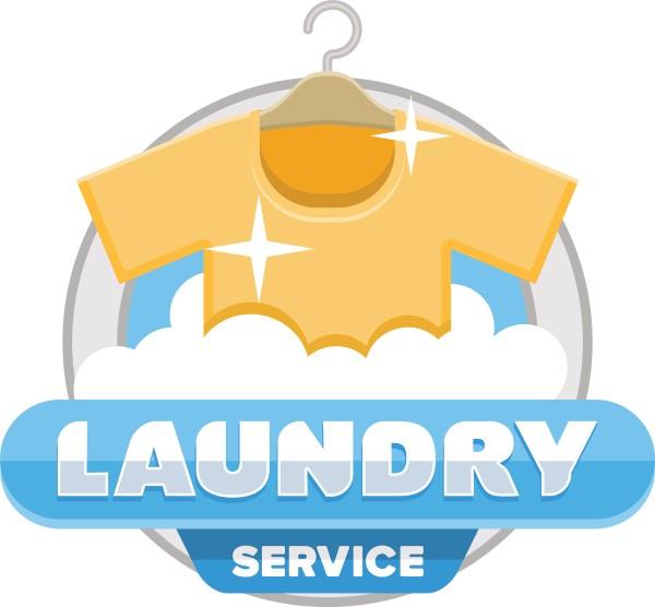laundry service logo badge